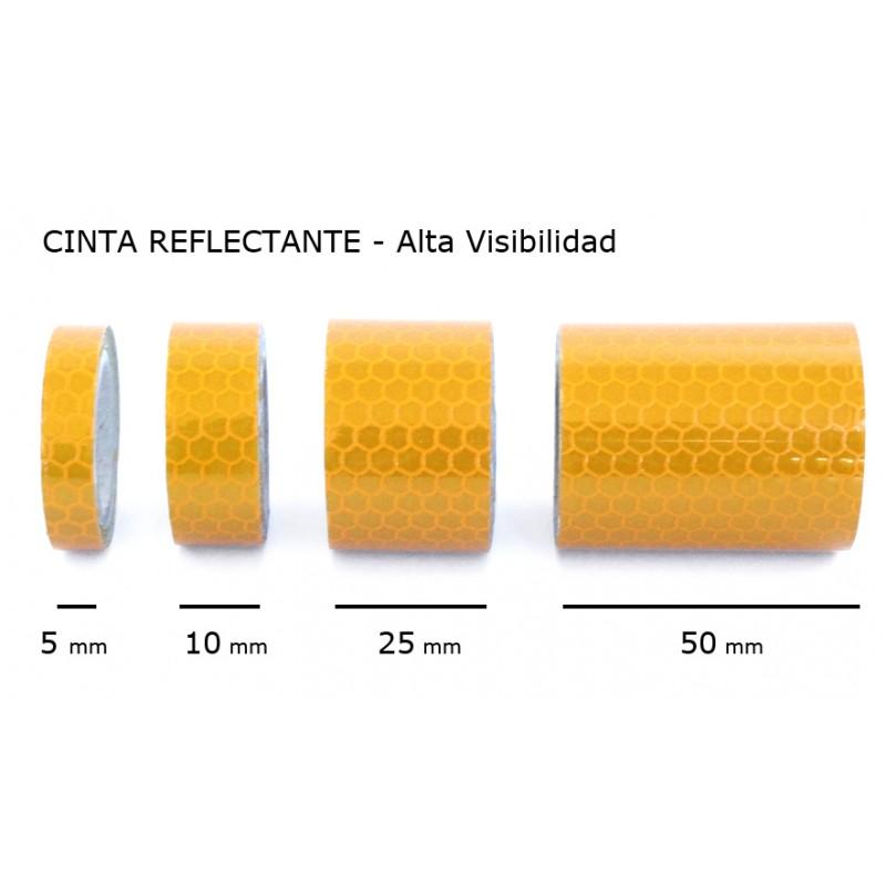Cinta reflectante amarilla ancho 10 mm for Cinta reflectante 3m