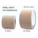 50mm. Papel Kraft Autoadhesivo