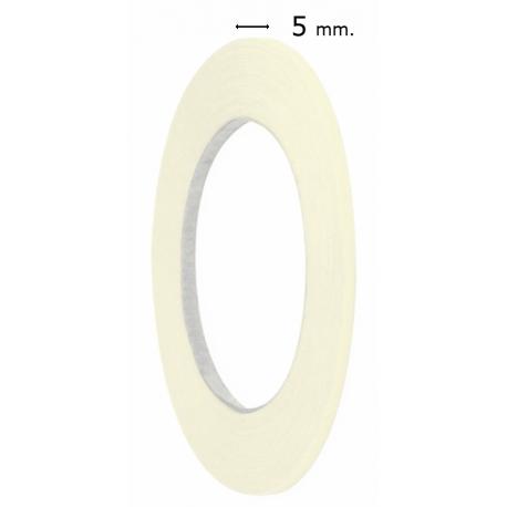 Cinta papel enmascarar fina 5mm. Cinta papel carrocero fina