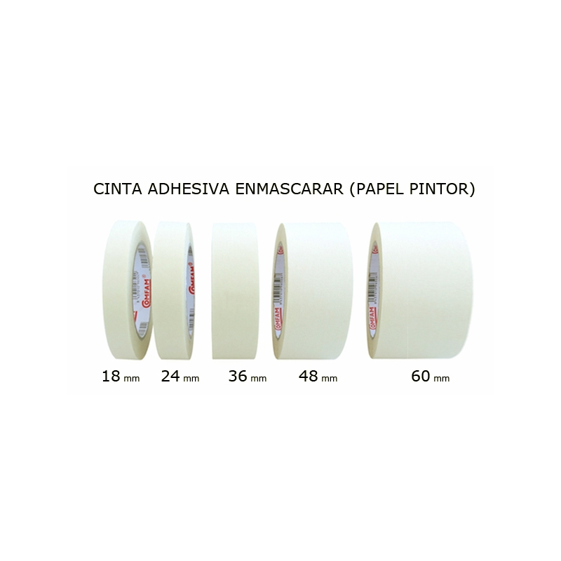 Cinta de enmascarar de papel 18mm cinta carrocero 18mm for Cinta de carrocero
