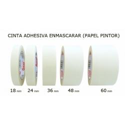 36mm. Cinta adhesiva de papel para enmascarar