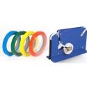 Cinta adhesiva Cierra Bolsas PVC 12mm. Varios colores