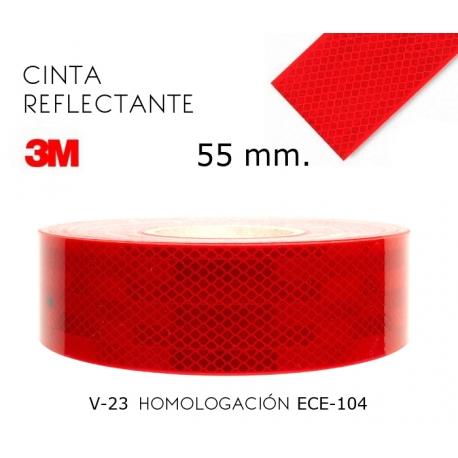 Cinta reflectante roja marca 3m v 23 983 55 mm ancho for Cinta reflectante 3m