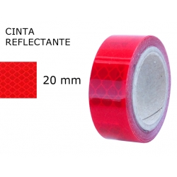 Cinta Reflectante 20 mm. Cinta Reflectante Roja 3M