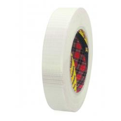 25mm. Cinta fibra de vidrio 3M Scotch 8959 con filamentos cruzados