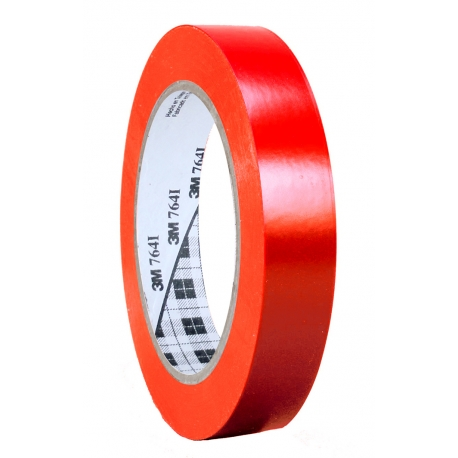 cinta adhesiva vinilo 3M 25 mm. ancho, Cinta perfilar vinilo 3M colores rojo, negro, azul, amarillo, blanco, naranja