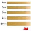 De 6mm a 10mm -Vinilo Adhesivo Oro Metalizado 3M-S80