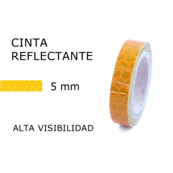 5 mm. ancho Cinta Reflectante Amarilla