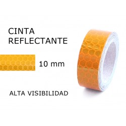 10 mm. ancho Cinta Reflectante Amarilla
