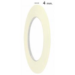 Rollo cinta adhesiva de papel para pintar muy fina 4mm. Cinta adhesiva de papel enmascarar 4mm
