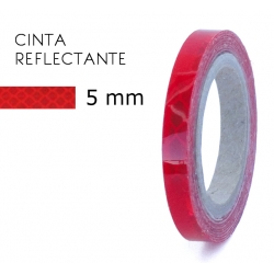 5 mm. Cinta Reflectante Roja 3M