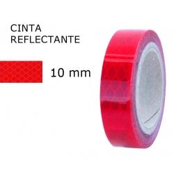 10 mm. ancho Cinta Reflectante Roja 3M