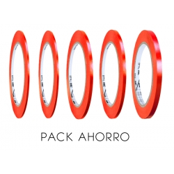 PACK AHORRO Vinilo ROJO 3M Perfilar 2mm 3mm 4mm 5mm 6mm