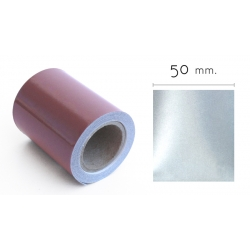 50mm ancho - Cinta Reflectante Textil Gris Plata 3M