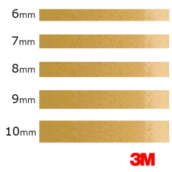 De 6mm a 10mm -Vinilo Adhesivo Oro Metalizado 3M-S80