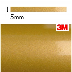 Vinilo Adhesivo Dorado Metalizado 3M-S80 (5mm.)