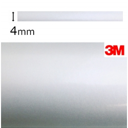 Cinta Adhesiva Vinilo Gris Metalizado Aluminio 3M-S80 (4mm.)